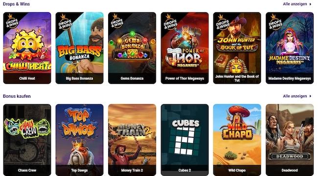 Slotbox Spiele